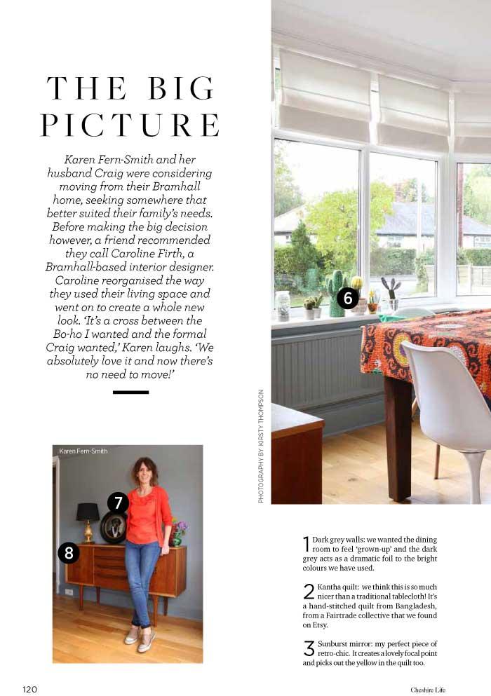 Cheshire interior design press articles for Interior design articles