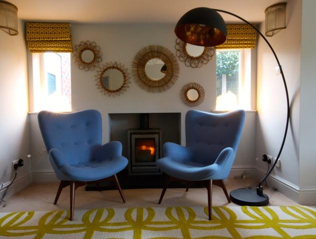 Vintage chairs retro room