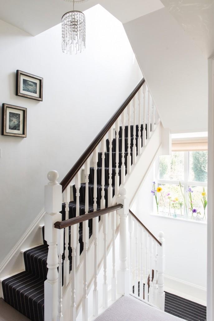 Interior design white staircase